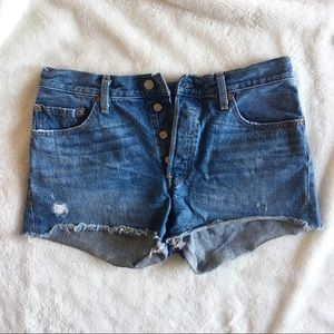 Vintage Levi's 501 Button Fly Cut off Shorts